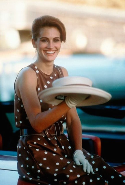 Pretty Woman con abito a pois